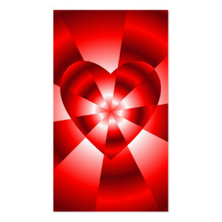 Amor en el disfraz - resplandor roja tarjetas de visita
