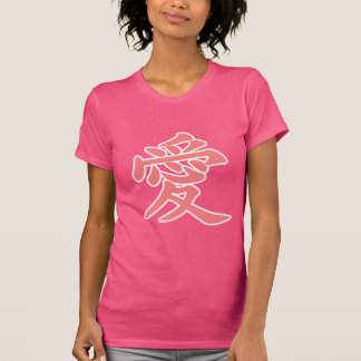 Amor en japonés camiseta