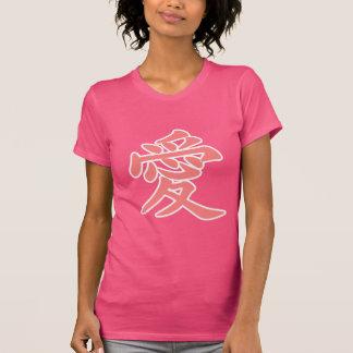 Amor en japonés camisetas
