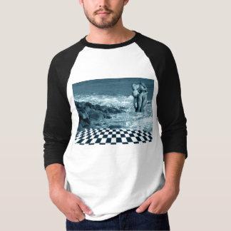 Amor en la camiseta de la playa