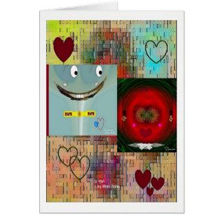 """""""Amor en la primera vista"""" 5 x tarjeta en blanco 7"""