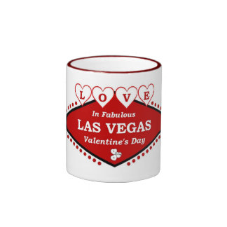 AMOR en taza fabulosa del el día de San Valentín