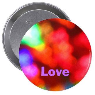 Amor en violeta chapa redonda 10 cm
