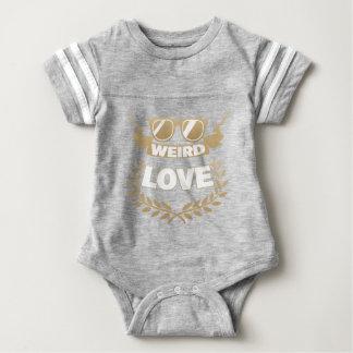 amor extraño body para bebé