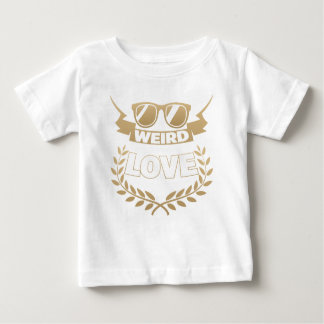 amor extraño camiseta de bebé