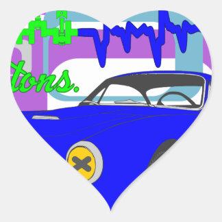 amor F250Lusso de la pasión de los pistones Pegatina En Forma De Corazón
