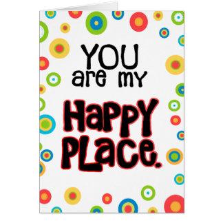 Amor feliz de la tarjeta del día de San Valentín