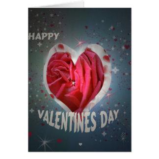 Amor feliz del día de San Valentín, tarjeta de fel