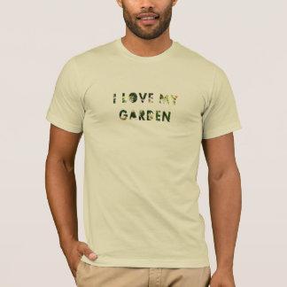 Amor floral de I mi texto de la flor del jardín Camiseta