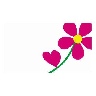amor floral, jardín, naturaleza de la flor tarjetas de visita