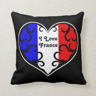 Amor francés bonito Francia del corazón el | I Almohada