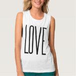 Amor fresco - diseño gráfico minimalista camiseta con tirantes