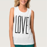 Amor fresco - diseño gráfico minimalista camiseta de tirantes anchos