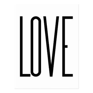 Amor fresco - diseño gráfico minimalista postal