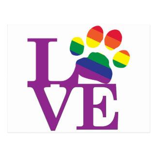 Amor-Gay-Pawprint Postal