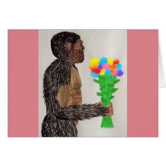 Amor gigante sagital de las flores del FB Tarjeta De Felicitación