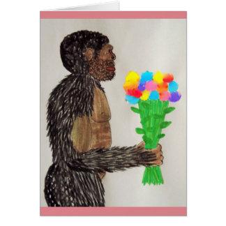 Amor gigante sagital de las flores del FB Tarjetón