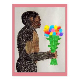 Amor gigante sagital de las flores del FB Tarjetas Postales