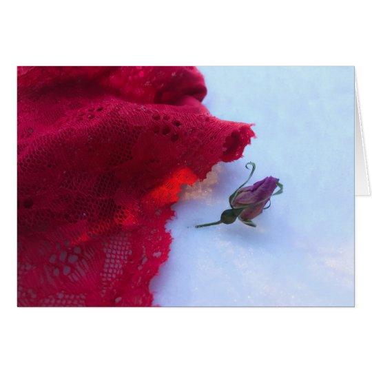 Amor hivernal tarjeta de felicitación