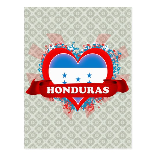 Amor Honduras del vintage I Postal