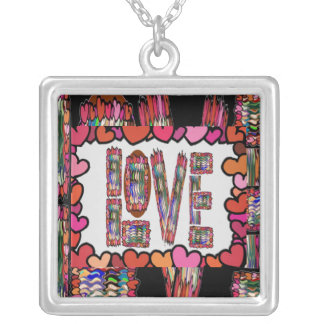 Amor - inscripción romántica colgante cuadrado