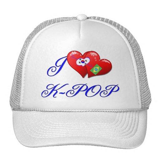 Amor K POP del Brasil Gorras De Camionero