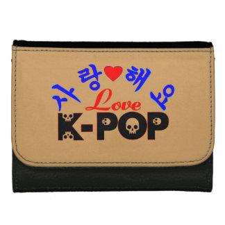 amor KPop Wallet♥♫ de cuero medio fabuloso del ♪♥I