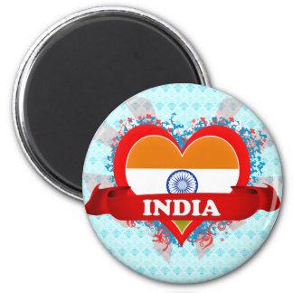 Amor la India del vintage I Imanes
