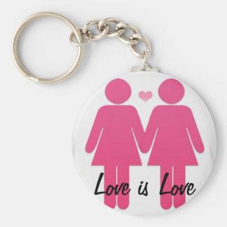 Amor lesbiano llavero redondo tipo chapa