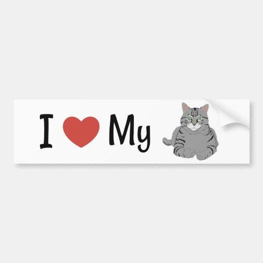 Amor lindo de I mi gato Pegatina Para Coche