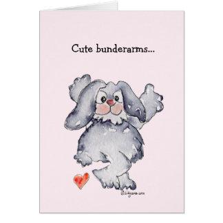 Amor lindo del conejo del dibujo animado de Bunder Felicitaciones