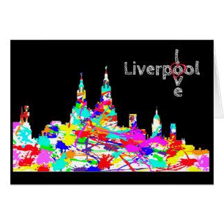 Amor Liverpool - tarjeta de felicitación del