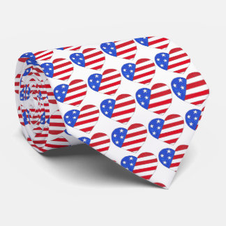 Amor los E.E.U.U. lazo patriótico de la bandera Corbata Personalizada