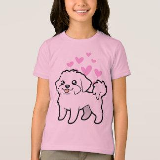 Amor maltés (perrito cortado) camiseta