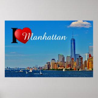 Amor Manhattan del papel de poster del valor I