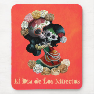 Amor maternal esquelético mexicano alfombrilla de ratón