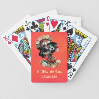 Amor maternal esquelético mexicano baraja cartas de poker