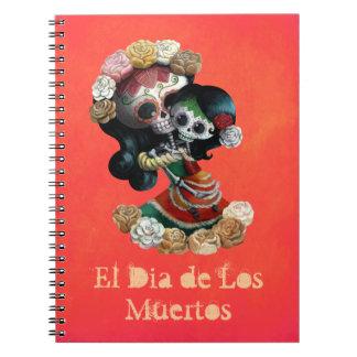Amor maternal esquelético mexicano libros de apuntes con espiral