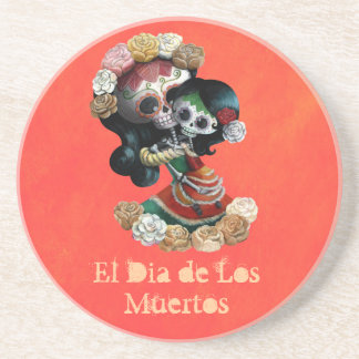 Amor maternal esquelético mexicano posavaso para bebida