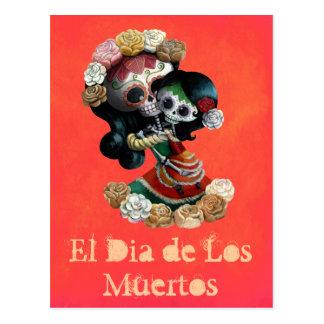 Amor maternal esquelético mexicano postal