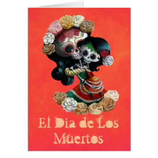 Amor maternal esquelético mexicano tarjeta de felicitación