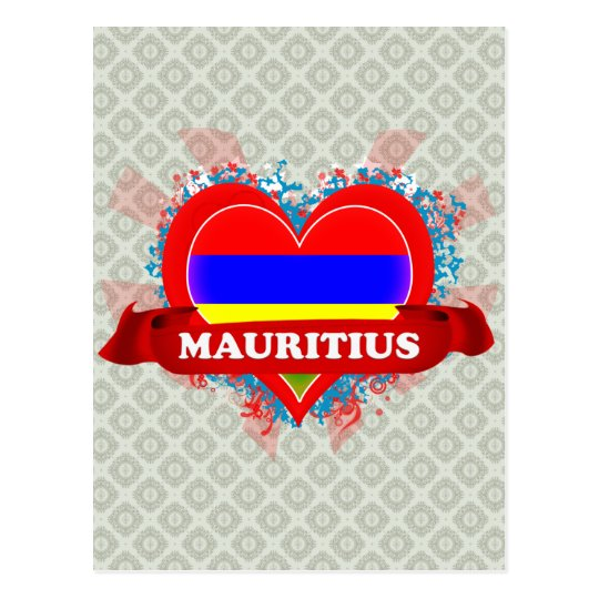Amor Mauricio del vintage I Postal