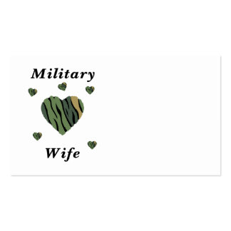 Amor militar de la esposa tarjetas personales