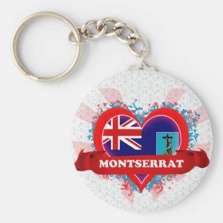 Amor Montserrat del vintage I Llavero Redondo Tipo Chapa