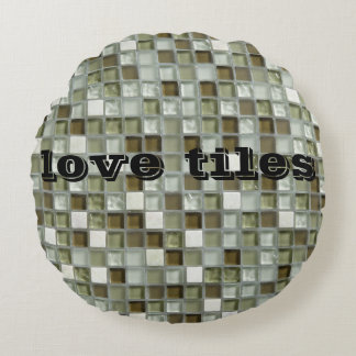 amor mozaic de la mirada de la almohada