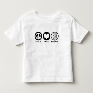 Amor Mozart de la paz Camiseta De Bebé