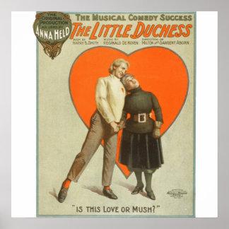 Amor o ruido de fondo - poster del teatro del