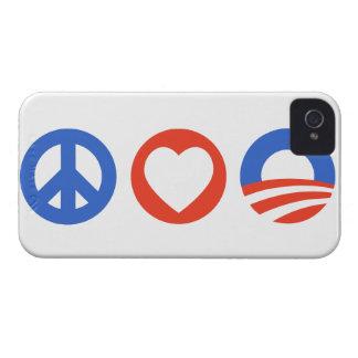 Amor Obama de la paz iPhone 4 Case-Mate Carcasa