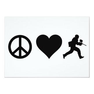 Amor Paintball de la paz Comunicados Personalizados