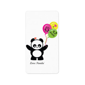 Amor Panda® Etiqueta De Dirección
